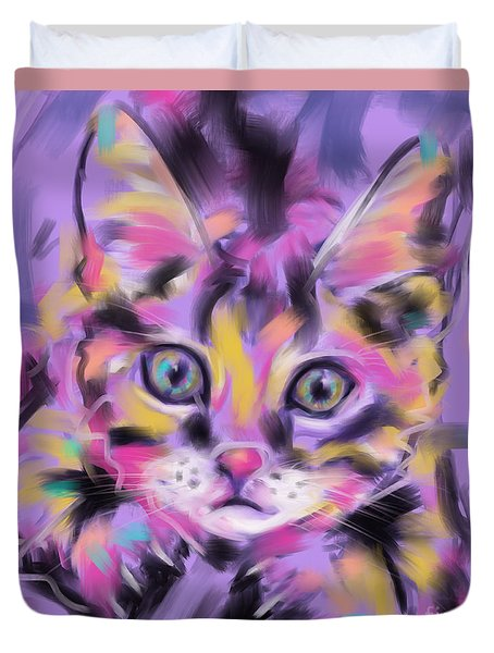 Cat Wild Thing Duvet Cover