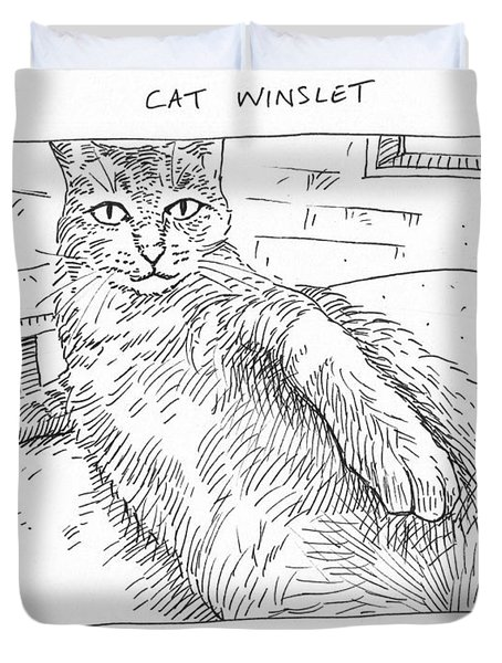 Cat Winslet Duvet Cover by Steve Hunter