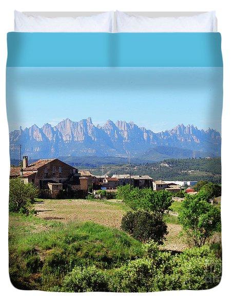 Catalan Landscape In Spring Duvet Cover by Don Pedro De Gracia
