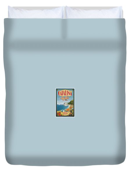 Catalina By Air Duvet Cover by Nostalgic Prints