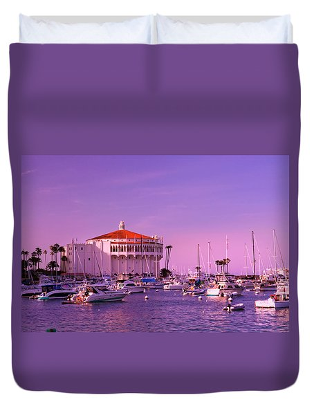 Catalina Casino Duvet Cover by Marie Hicks