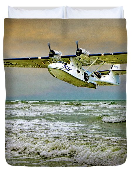 Catalina Flying Boat Duvet Cover