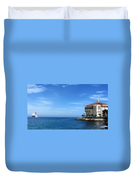 Catalina Island Casino Duvet Cover