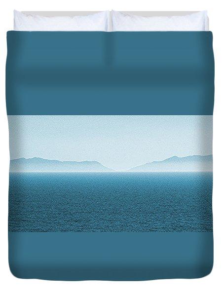 Catalina Island Large Panoramic Color Fine Art Print On Metal Duvet Cover by Ben and Raisa Gertsberg