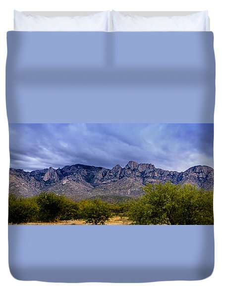 Duvet Cover featuring the photograph Catalina Mountains P1 by Mark Myhaver