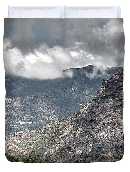 Catalina Mountains Duvet Cover
