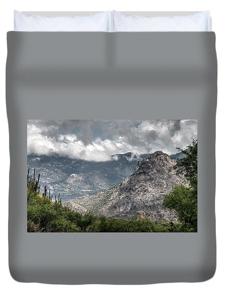 Catalina Mountains Duvet Cover