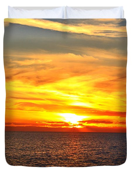 Catalina Sunset Duvet Cover