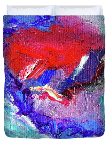 Duvet Cover featuring the painting Catalyst by Dominic Piperata
