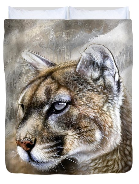 Catamount Duvet Cover by Sandi Baker