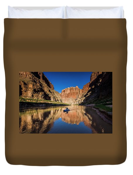 Cataract Canyon Duvet Cover