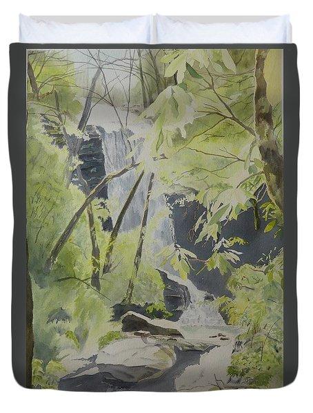 Catawba Falls - The Upper Cascade Duvet Cover