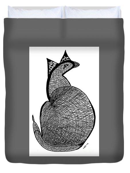 Catbird Abstract Rd101 Duvet Cover