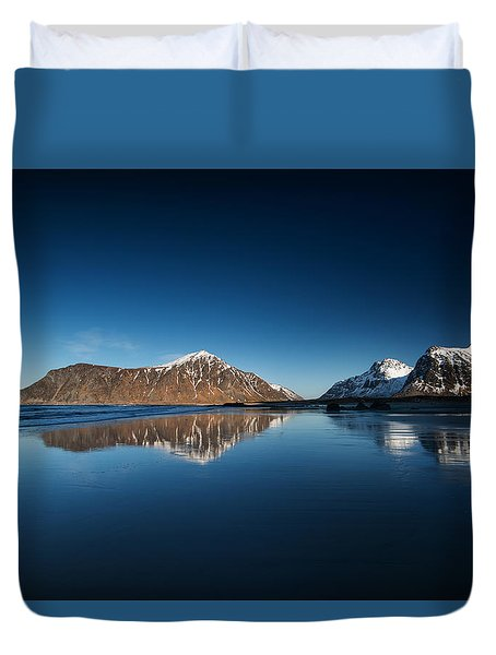 Catch The Next Line Duvet Cover by Philippe Sainte-Laudy