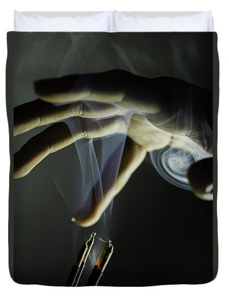 Catch The Sprit Duvet Cover by Ramabhadran Thirupattur