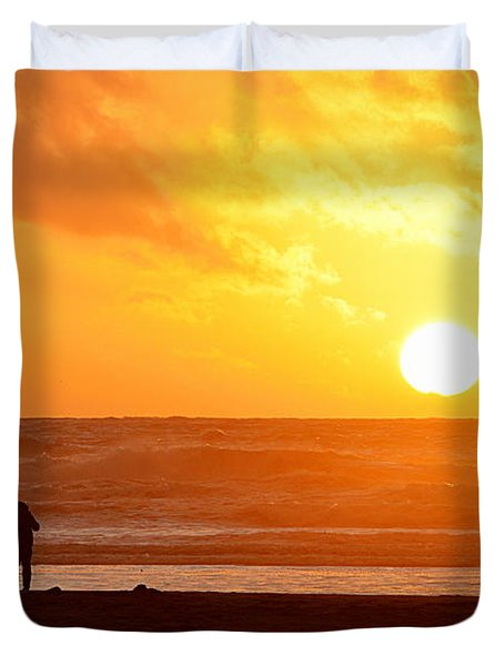 Catching A Setting Sun Duvet Cover