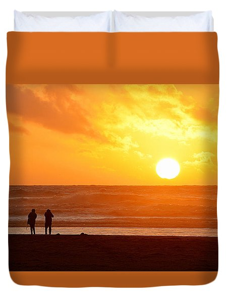 Catching A Setting Sun Duvet Cover
