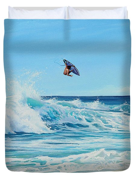 Catching Air Duvet Cover by Joe Mandrick
