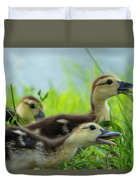 Catching Bugs Duvet Cover