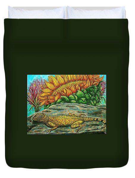 Catching Some Rays Duvet Cover by Kim Jones