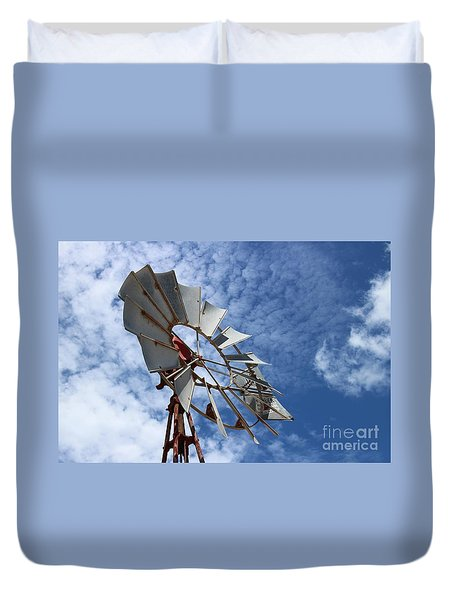 Duvet Cover featuring the photograph Catching The Breeze by Stephen Mitchell