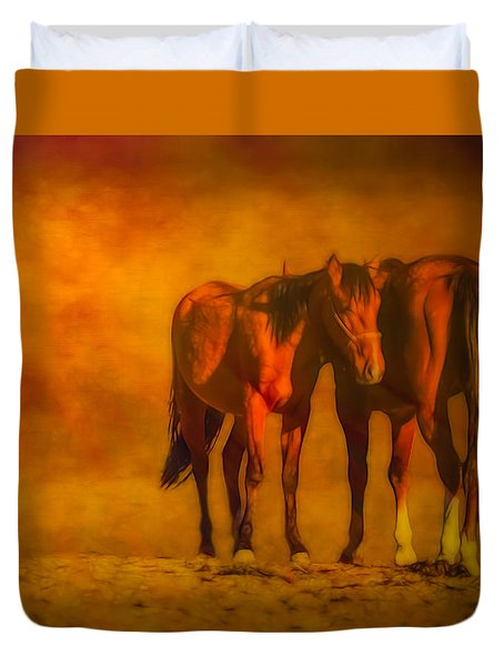 Catching The Last Sun Digital Painting Duvet Cover