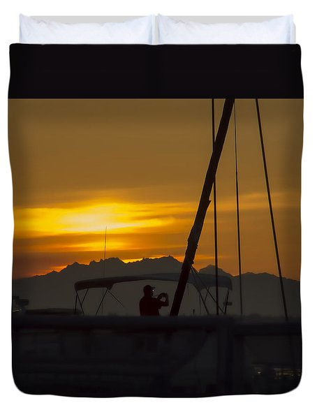 Catching The Sun Duvet Cover by Cathy Anderson