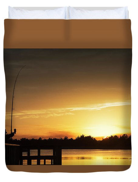 Catching The Sunset Duvet Cover