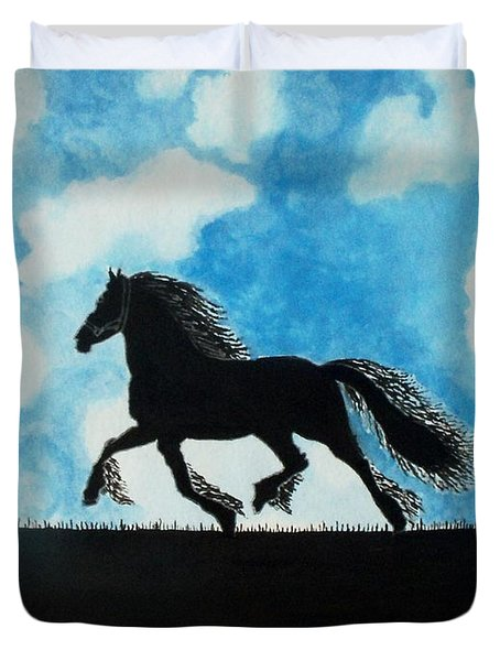 Catching The Wind Duvet Cover by Connie Valasco