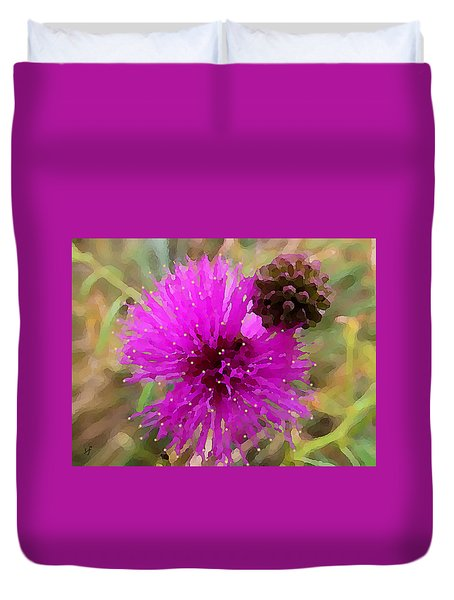 Catclaw Pink Mimosa  Duvet Cover