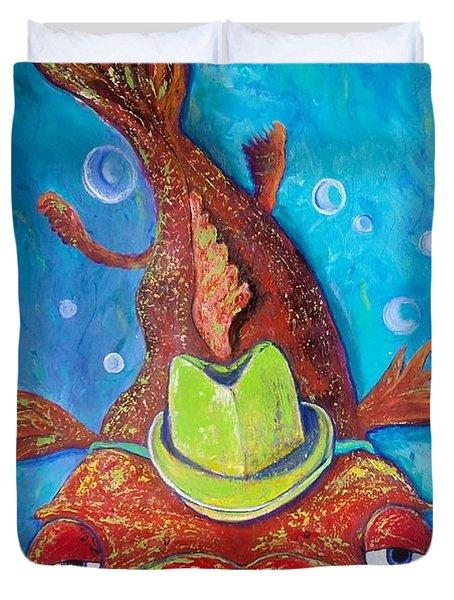 Catfish Clyde Duvet Cover