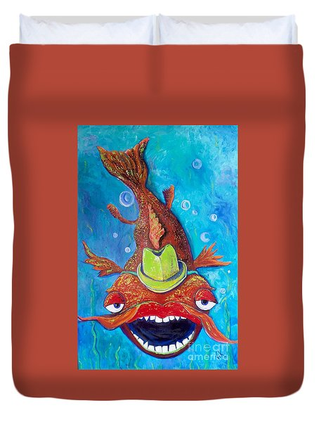 Catfish Clyde Duvet Cover