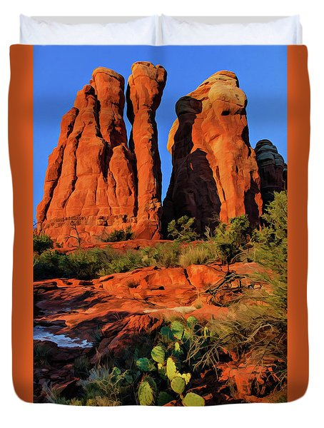 Cathedral 06-074 Duvet Cover by Scott McAllister