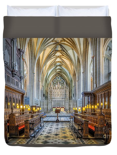 Cathedral Aisle Duvet Cover