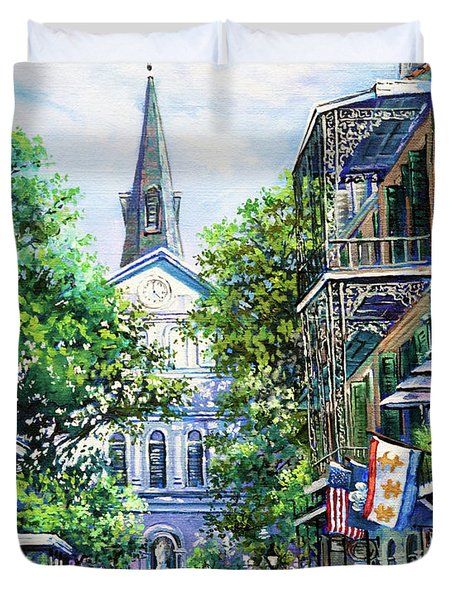 Cathedral At Orleans Duvet Cover