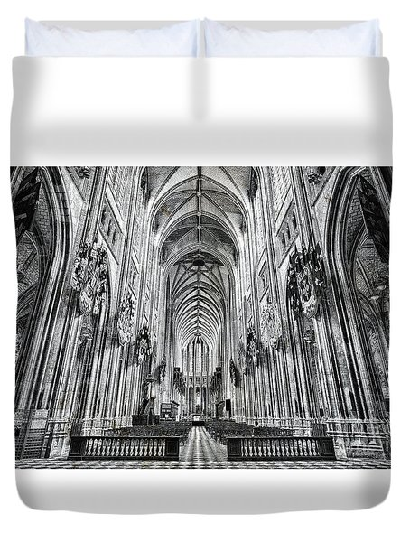 Cathedral At Orleans France Duvet Cover