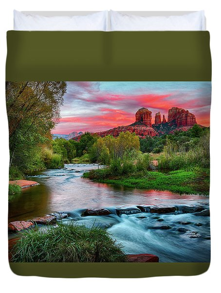 Cathedral At Sunset Duvet Cover