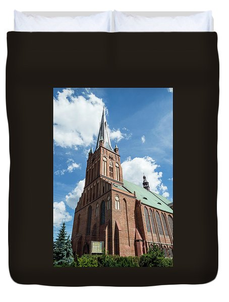 Cathedral Basilica Of St. James The Apostle, Szczecin A Duvet Cover