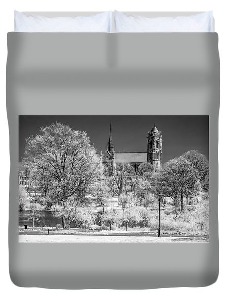 Duvet Cover featuring the photograph Cathedral Basilica Of The Sacred Heart Ir by Susan Candelario