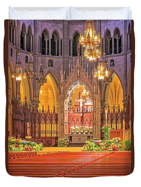 Duvet Cover featuring the photograph Cathedral Basilica Of The Sacred Heart Newark Nj by Susan Candelario