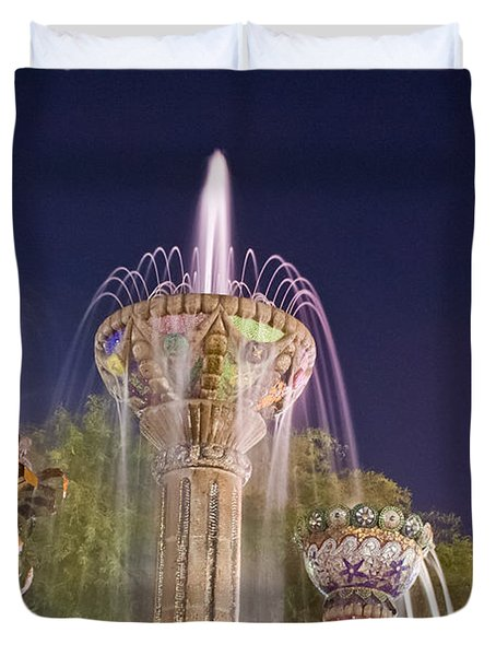 Cathedral City Fountain Duvet Cover