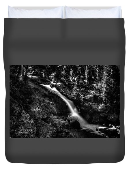 Cathedral Falls From The Tioga Pass Road Duvet Cover