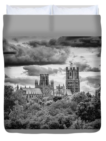 Duvet Cover featuring the photograph Cathedral From The North-east by James Billings