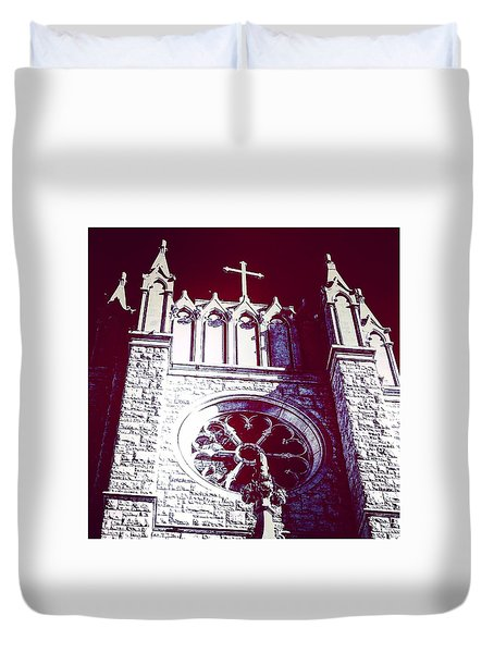 Cathedral In Archangel Glow Duvet Cover