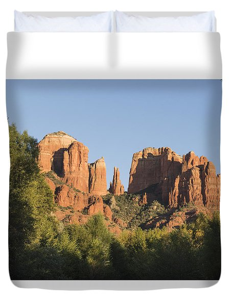 Cathedral In The Trees Duvet Cover by Laura Pratt