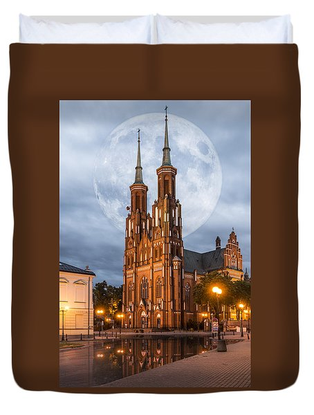 Duvet Cover featuring the photograph Cathedral by Jaroslaw Grudzinski