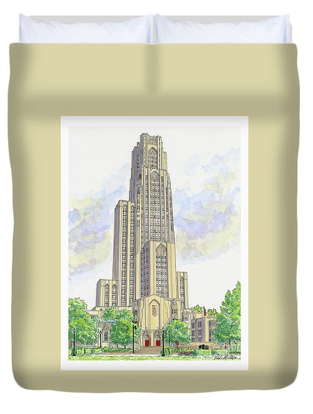 Cathedral Of Learning Duvet Cover