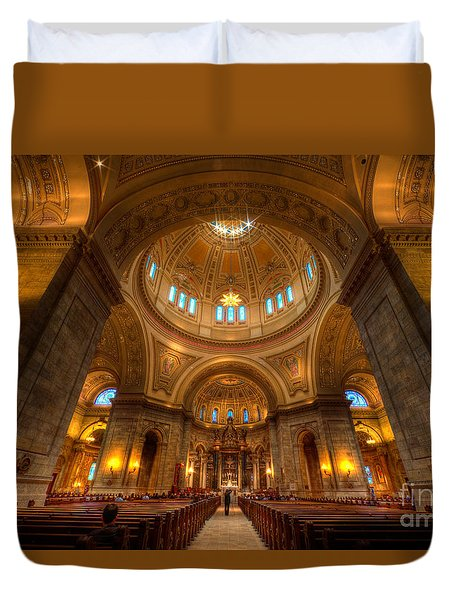 Cathedral Of St Paul Wide Interior St Paul Minnesota Duvet Cover