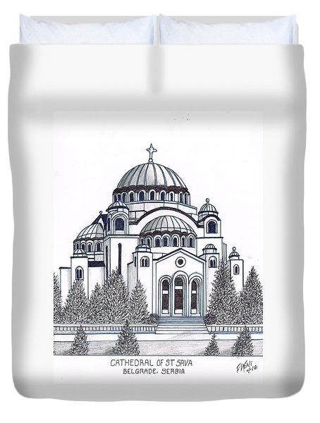 Cathedral Of St Savia Duvet Cover by Frederic Kohli