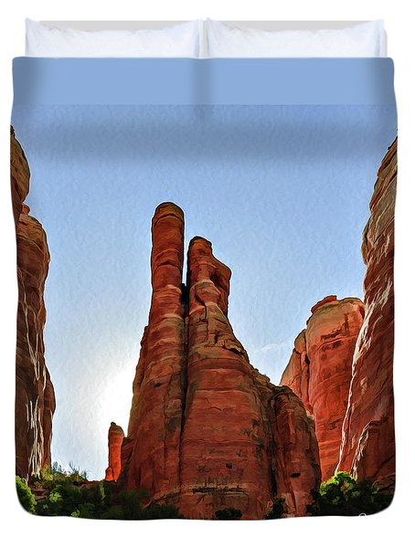 Cathedral Rock 05-155 Duvet Cover by Scott McAllister